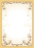 Decorative floral frame. The decorative frame with floral motives Royalty Free Stock Photography