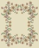 Decorative floral frame. Stock Photo