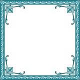 Decorative Floral Frame. Blue decorative floral frame design Royalty Free Stock Photography