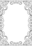 Decorative floral   frame coloring page. Isolated Stock Image
