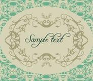 Decorative floral frame illustration stock illustration