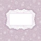 Decorative floral  frame. Template frame design for greeting card Stock Image
