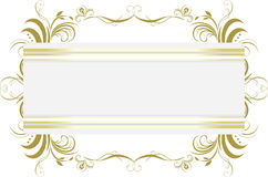 Decorative floral frame. Title. Illustration Stock Photography