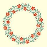 Decorative floral frame Stock Image