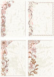 Decorative floral frames Royalty Free Stock Photography