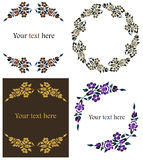 Decorative floral frames set Royalty Free Stock Photos