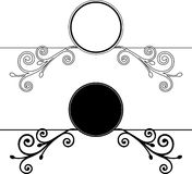 Decorative Floral frames. Vector illustration Royalty Free Stock Image
