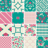 Decorative floral and geometric patterns Royalty Free Stock Photos