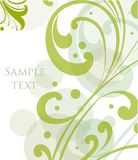 Decorative floral green background. Vector Royalty Free Stock Photos