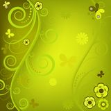Decorative floral green frame Stock Images