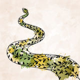 Decorative floral green snake. EPS10 Stock Photography