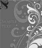 Decorative floral grey background. Vector Royalty Free Stock Photo