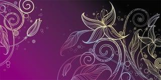 Decorative floral illustration royalty free illustration