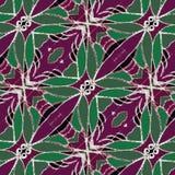 Decorative Floral Motif Pattern Background Stock Photo