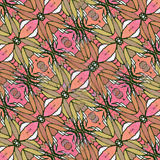 Decorative Floral Motif Pattern Background Royalty Free Stock Photo