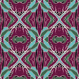 Decorative Floral Motif Pattern Background Stock Images