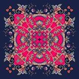 Decorative floral ornament. Bandana print. Bricht vector illustration. Stock Photography