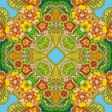 Decorative floral ornament. Bright summer pattern. Stock Photo