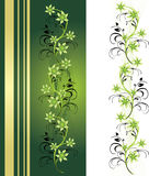 Decorative floral ornament for card and frame Stock Photos