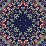 Decorative floral ornament. Colorful bandana print Stock Images