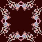 Decorative floral ornament. Colorful floral frame. Royalty Free Stock Photos