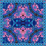 Decorative floral ornament. Ethnic motifs. Can be used for cards, bandana prints Stock Images