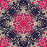 Decorative floral ornament. Fashion kerchief design. Royalty Free Stock Photography