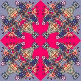 Decorative floral ornament. Symmetrical pattern. Royalty Free Stock Photography
