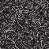 Decorative floral ornamental seamless pattern Stock Photos