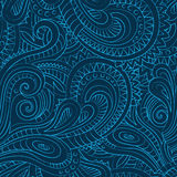 Decorative floral ornamental seamless pattern Royalty Free Stock Images