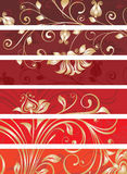 Decorative floral panels Stock Photography