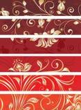 Decorative floral panels. Set of decorative floral panels royalty free illustration