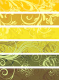 Decorative floral panels Royalty Free Stock Images