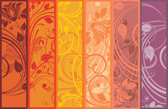Decorative floral panels. Set of decorative floral panels stock illustration