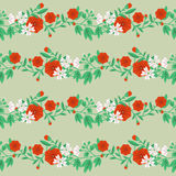 Decorative floral pattern Royalty Free Stock Image
