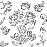 Decorative floral pattern with bluebells Stock Image