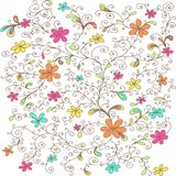 Decorative floral pattern colored Stock Photos