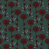 Decorative floral pattern Royalty Free Stock Photo