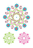 Decorative floral pattern motif Royalty Free Stock Images