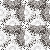 Decorative floral pattern motif royalty free stock photo
