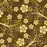 Decorative floral pattern, vector Royalty Free Stock Image