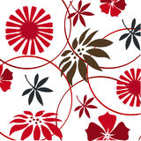 decorative floral pattern, wallpaper Stock Image