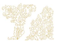 Decorative floral patterns Royalty Free Stock Photo