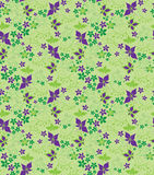 Decorative floral seamless background Royalty Free Stock Photos