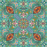 Decorative floral seamless pattern, bandanna shawl fabric print Stock Photo