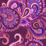 Decorative floral seamless pattern. Decorative floral paisley ornamental vector seamless pattern Royalty Free Stock Photo
