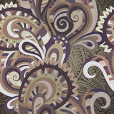 Decorative floral seamless pattern. Decorative floral paisley ornamental vector seamless pattern Royalty Free Stock Photography