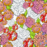 Decorative floral seamless wallpaper Stock Image