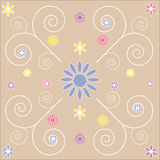 Decorative Floral swirls background abstract Stock Image