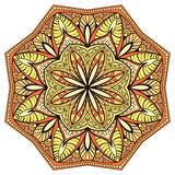 Decorative, floral, symmetrical mandala Royalty Free Stock Photo